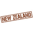 new zealand brown square stamp vector image vector image