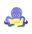 Octopus With The Template For The Message vector image vector image