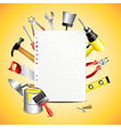 paper building tools vector image vector image