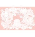 Pastel Floral tea time vector image vector image