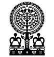 Polish monochrome folk art pattern Wycinanki vector image vector image