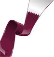 quatar ribbon flag vector image vector image