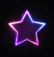 realistic 3d neon star background on black wall vector image