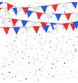 red blue white flag decorated on white background vector image vector image