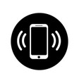 ringing phone icon in circle mobile call icon vector image