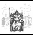 russian tsar on the throne king vector image vector image