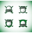 set labels golf tournament vector image