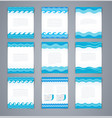 set wavy layout brochures or poster vector image