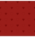 Simple and cute red hearts seamless pattern vector image vector image