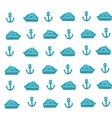Simple pattern with anchors and ships vector image