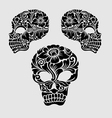 Skull head ornament decoration vector image vector image