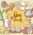 spa salon wellness beauty hand drawn design vector image vector image
