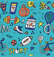 sport and fitness doodle vector image vector image