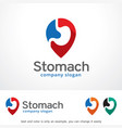 stomach logo template design vector image vector image