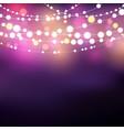 string lights background vector image