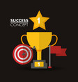 success concept winner card vector image vector image