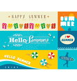 Summer flat banner set vector image