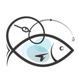symbol for fishing vector image vector image