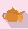 taiwan tea pot icon flat style vector image vector image