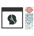 Telemarketing Operator Calendar Page Flat vector image vector image
