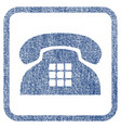tone phone fabric textured icon vector image vector image