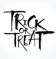 trick or treat lettering for halloween vector image vector image