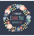 Vintage Valentine Day decoration flowers vector image vector image