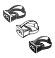 Virtual 3d reality goggles vector image vector image