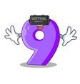 virtual reality number nine balloon font shaped vector image