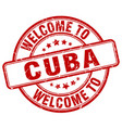 welcome to cuba vector image vector image