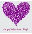 valentine floral heart on white vector image