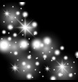 star way with sparkles white color vector image