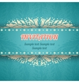 Beautiful floral invitation card in vintage style vector image