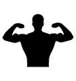 bodybuilder it is the black color icon vector image