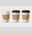3d realistic disposable closed paper vector image vector image