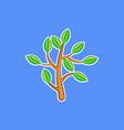 a bush branch vector image vector image