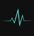 Abstract bright heart pulse icon