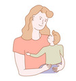 affection and unconditional love a mother vector image vector image