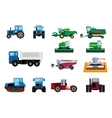 Agricultural machinery set vector image