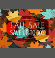 autumn sale poster flyer card template with vector image vector image