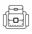 Backpack icon outline style vector image vector image
