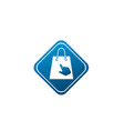 bag for shop with click hand logo design online vector image