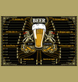 beer menu or pub placemat vector image vector image
