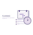 business planning concept corporate time vector image vector image