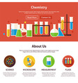 Chemistry Science Flat Web Design Template vector image