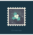 Christmas mistletoe stamp vector image