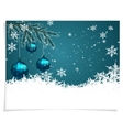 Christmas New Year s card Three green shiny vector image vector image