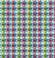 colored triangle seamless pattern with grunge vector image