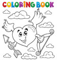 coloring book valentine theme 6 vector image vector image