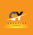 cy c y letter modern logo design with yellow vector image vector image